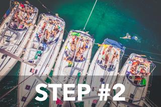 Step #2 - Zamluvte si Jachtu nebo místo